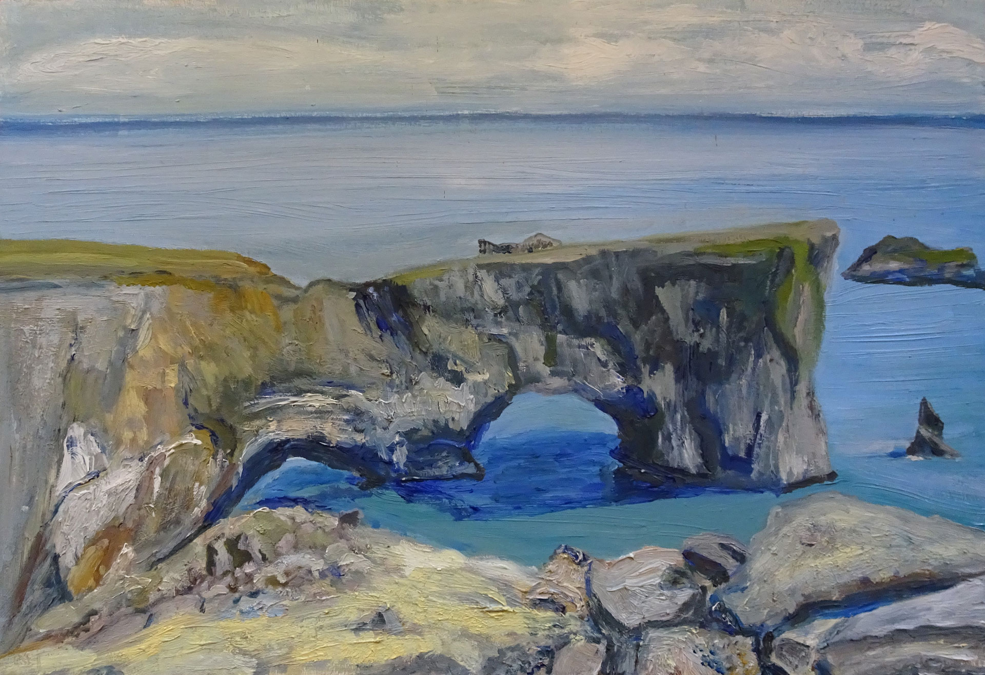 IJsland Dyrholaey rotsen