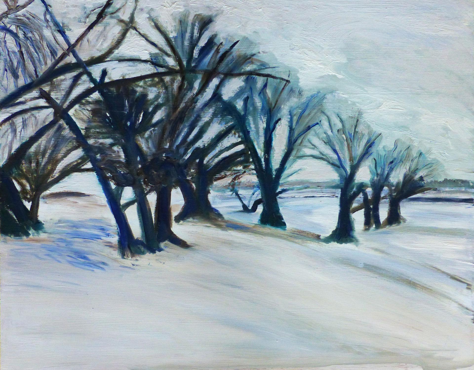 Millingerwaard bomen op Waalstrand