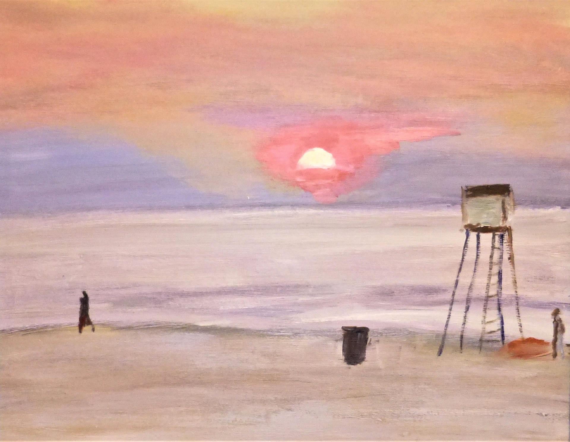 Polen-oostzee-zonsondergang