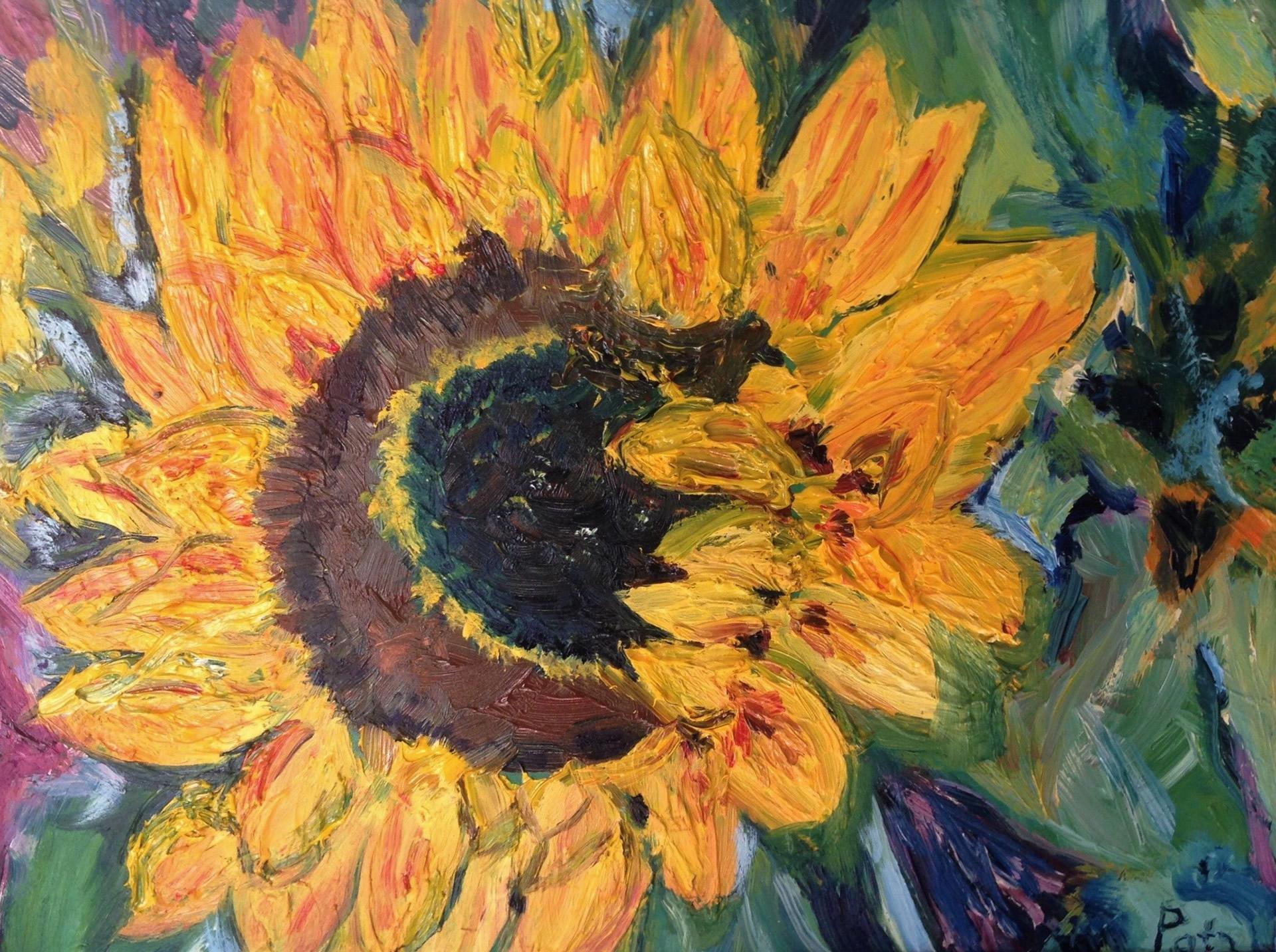 schilderij-zonnebloem